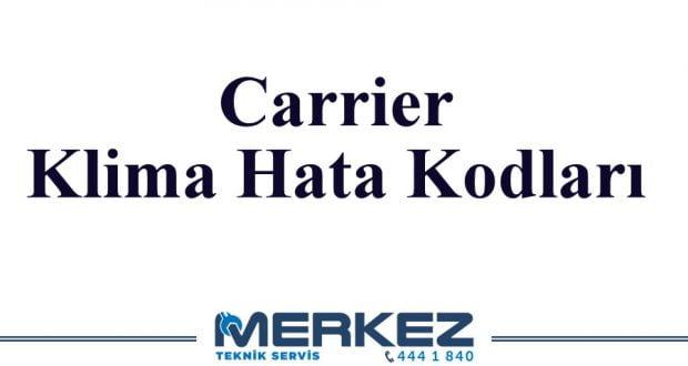 Carrier Klima Hata Kodları