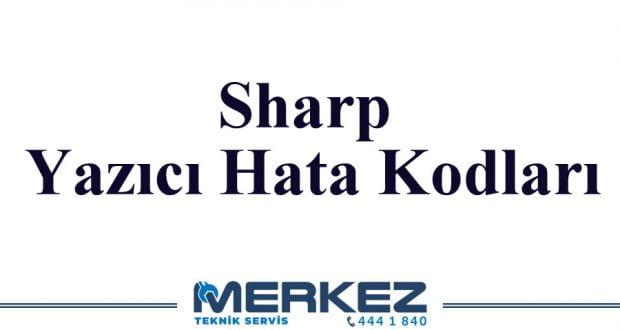 Sharp Yazıcı Hata Kodları