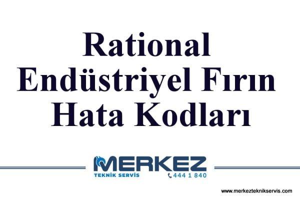 Rational Endüstriyel Fırın Hata Kodları