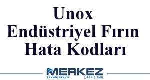 Unox Endüstriyel Fırın Hata Kodları